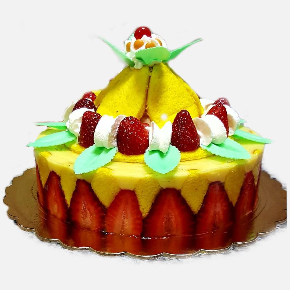 Torta fragola e vaniglia