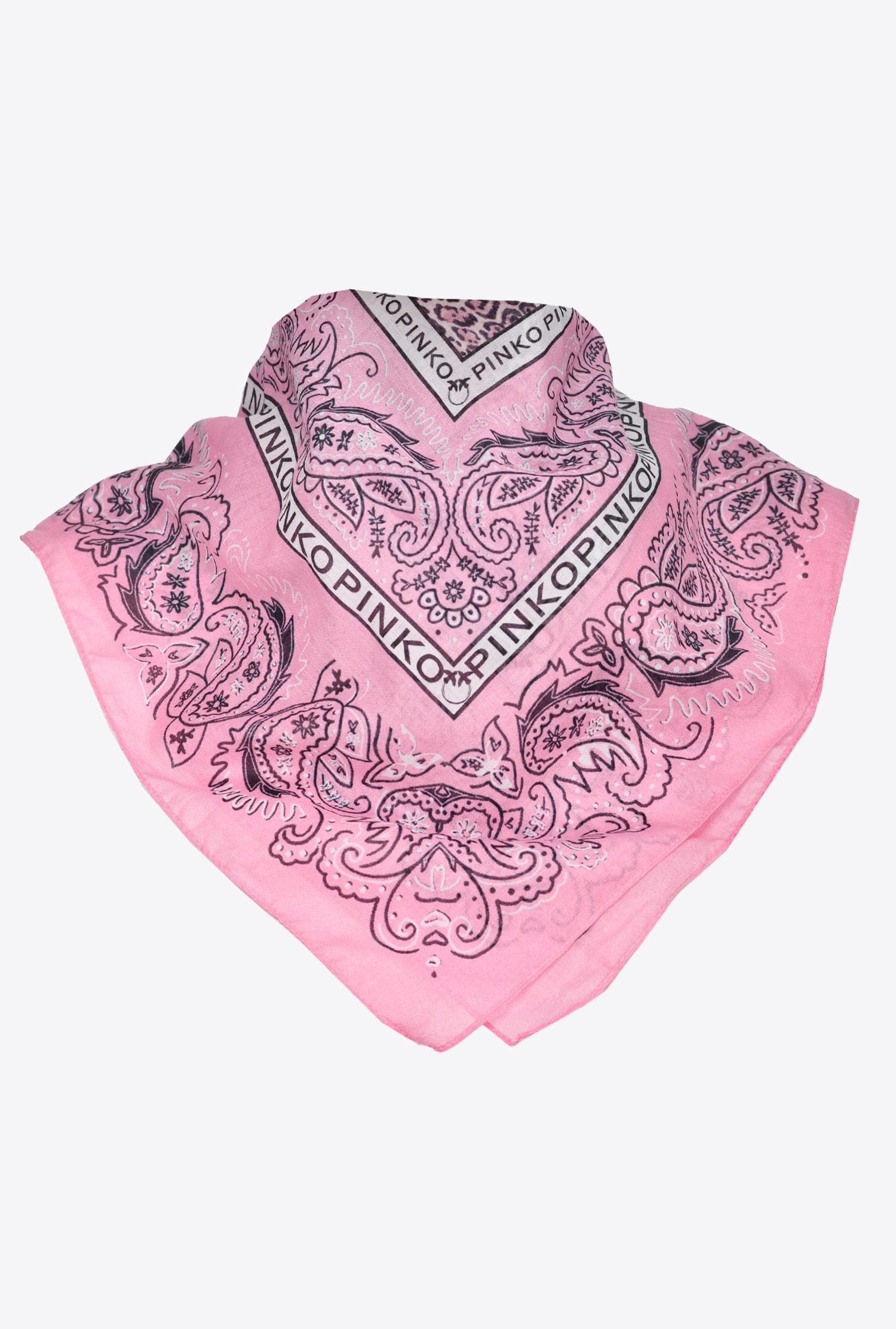 Bandana in mussola rosa Pinko
