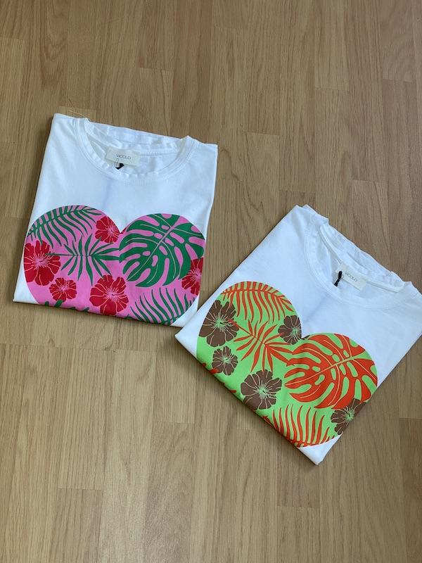 Tshirt Vicolo Cuore Floreale