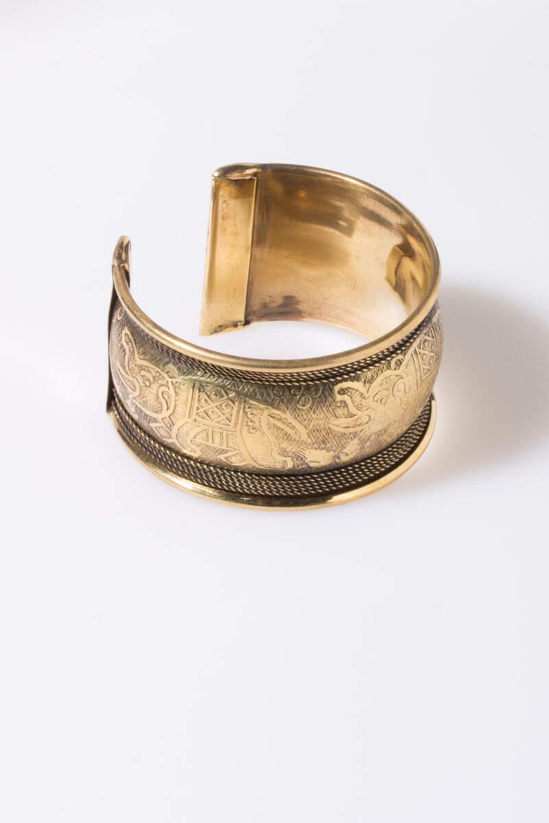 Rigid Indian ethnic bracelet