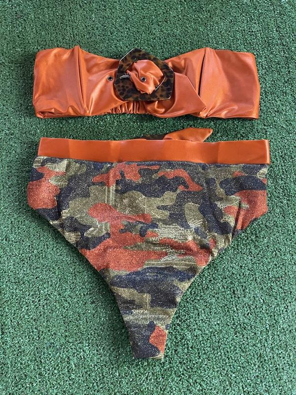 Bikini Fascia e slip retrò fisso Desert Effek