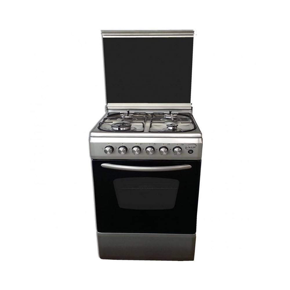 REM Cucina a gas con Forno Elettrico + Grill Elettrico 50x50 Inox 505EVX