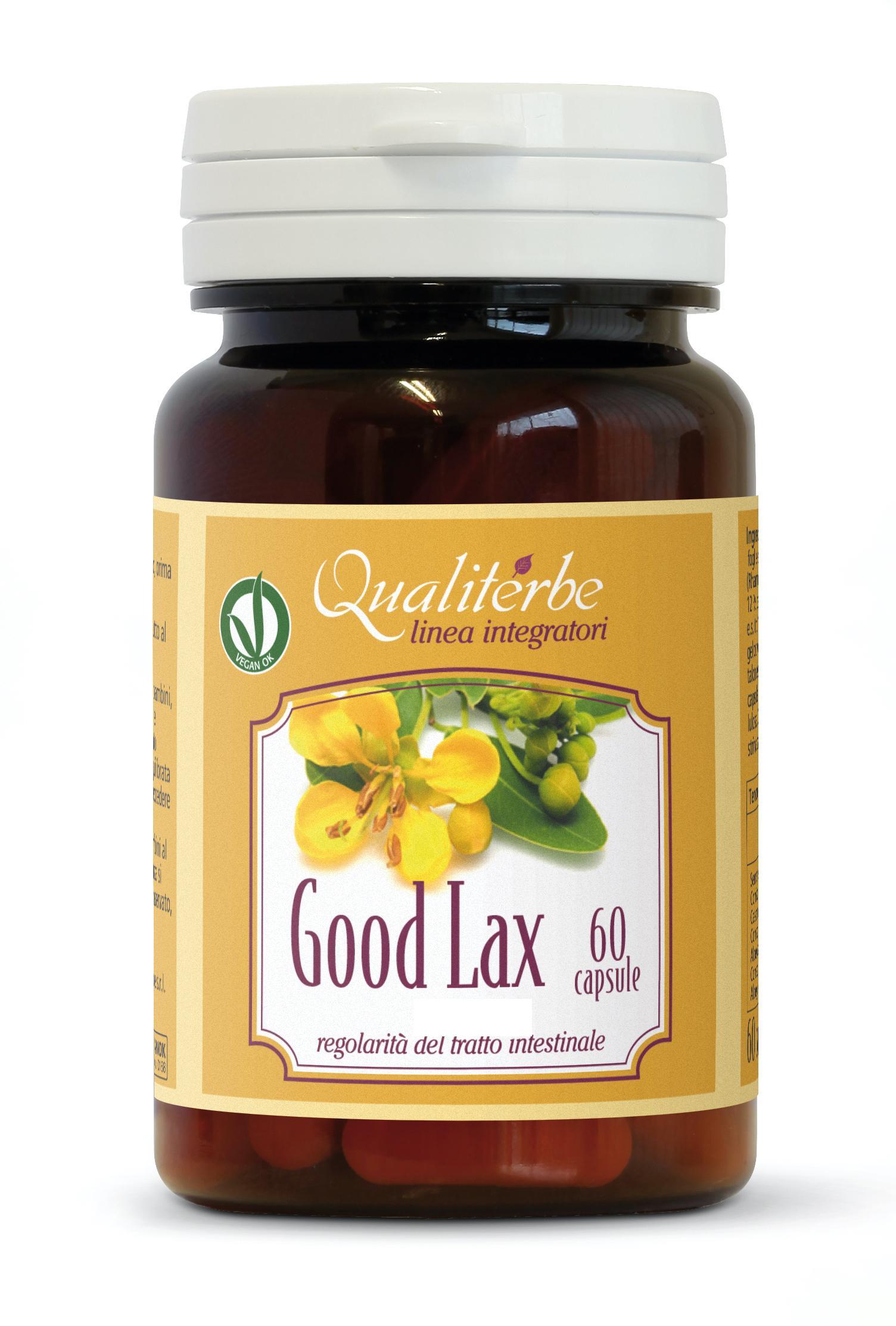 Good Lax 60 capsule ad azione lassativa favorisce fisiologica evacuazione intestinale.