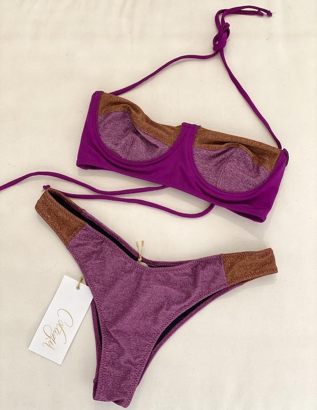 Bikini Balconcino Lurex Bicolor Cotazur