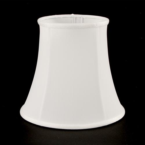 Paralume Ø 14 e H 13 cm pagoda bianco con passamaneria bianca. Attacco E14