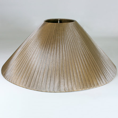 Paralume, forma cina, Ø45 cm, h 18 cm, diametro superiore 12 cm, organza velo Siena color liquirizia. Attacco E27