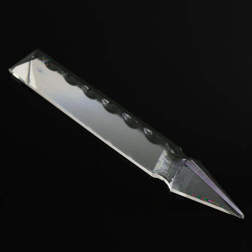 Pendaglio freccia 125 mm, pendente con foro, vetro cristallo molato lucidato