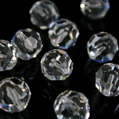 Perla sfaccettata Swarovski 14 mm colore puro mezzo foro