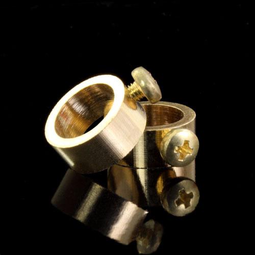 Anellino fermarosetta F10,5 mm galvanica oro con vite M3