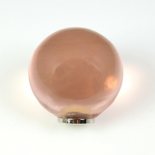 Maniglia pomello sfera rosa antico Ø25 vetro di Murano con filettatura M4 Femmina