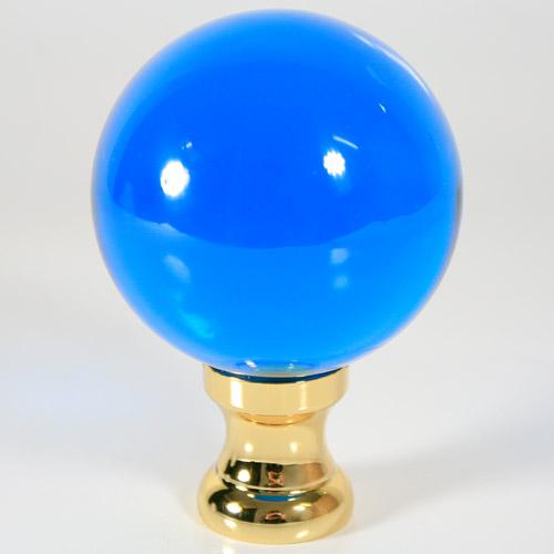 Maniglia pomello sfera turchese Ø65 vetro di Murano con rocchetto oro.