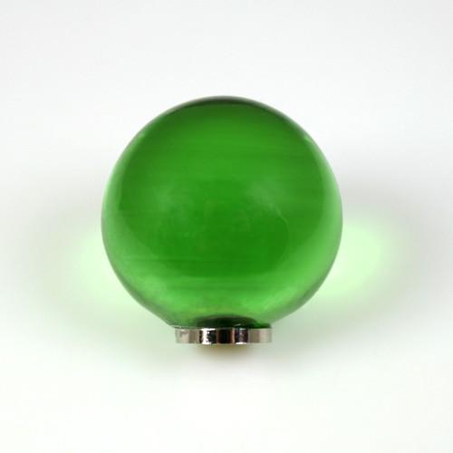 Maniglia pomello sfera verde chiaro Ø20 vetro di Murano con filettatura M4 Femmina