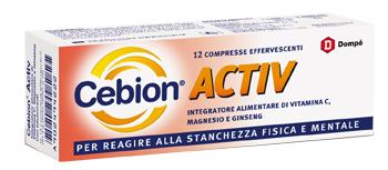 CEBION ACTIV - INTEGRATORE PER LA STANCHEZZA FISICA E MENTALE 12 COMPRESSE EFFERVESCENTI