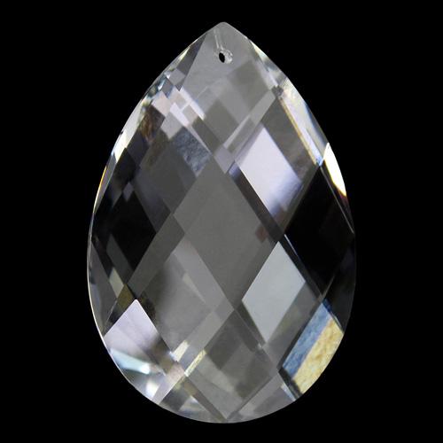 Mandorla Spectra Swarovski taglio a rete da 63 mm, color cristallo.