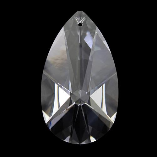 Mandorla Spectra Swarovski taglio a stella da 38 mm, color cristallo.