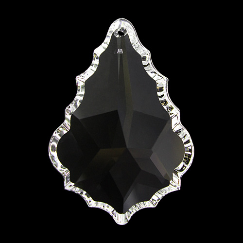 Pendente foglia Swarovski color cristallo, 63 mm - 8901