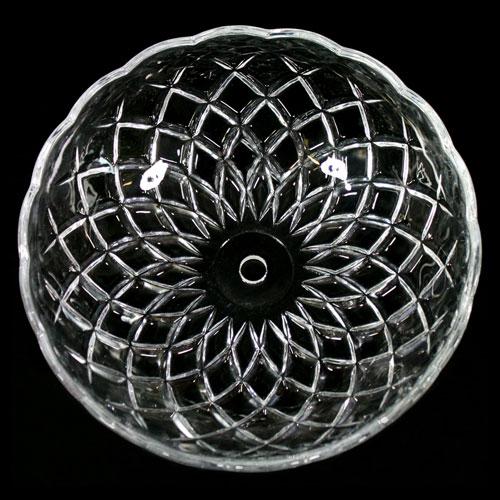 Bobeche lampadari vetro veneziano Ø20 cm foro Ø12 mm NO fori laterali.