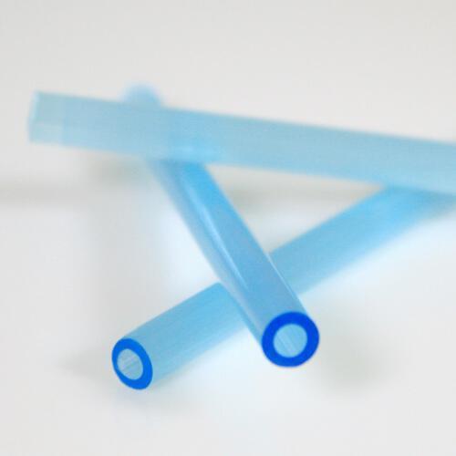 Cannetta in vetro color seta acquamare lunghezza 8 cm Ø6 mm