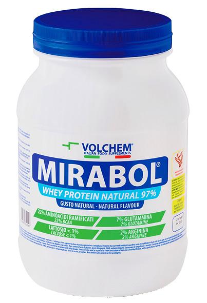 MIRABOL ®  WHEY PROTEIN NATURAL 97 - barattolo ( proteine del siero del latte ) 750g