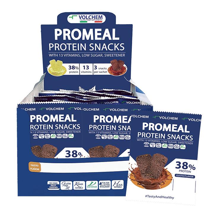 PROMEAL ® PROTEIN SNACKS 38% ( snack proteico ) 16 x 37,5g