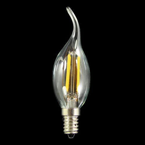 Lampadina E14 colpo di vento led COB lineari - luce calda 3000K 6 W 230V