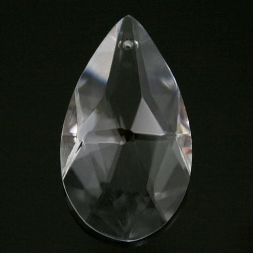 Mandorla pendente 63 mm cristallo vetro molato colore puro taglio classico