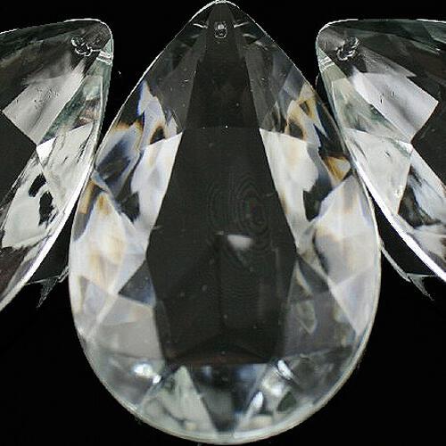 Mandorle 76 mm, gocce pendenti vetro veneziano