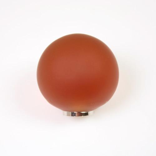 Maniglia pomello sfera satinata ambra Ø25 vetro di Murano con filettatura M4 Femmina
