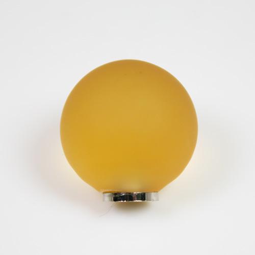 Maniglia pomello sfera satinata gialla Ø25 vetro di Murano con filettatura M4 Femmina