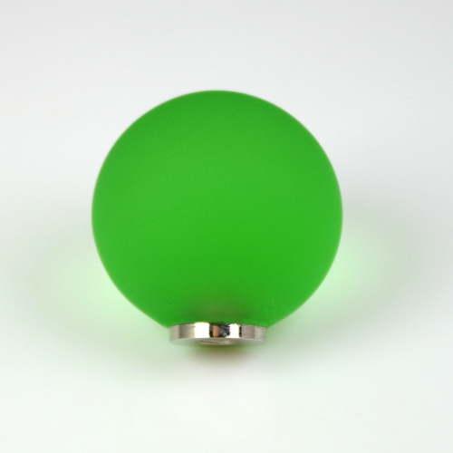 Maniglia pomello sfera satinata verde chiaro Ø20 vetro di Murano con filettatura M4 Femmina