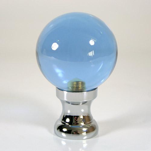 Maniglia pomello sfera viola Ø50 vetro di Murano rocchetto nikel.