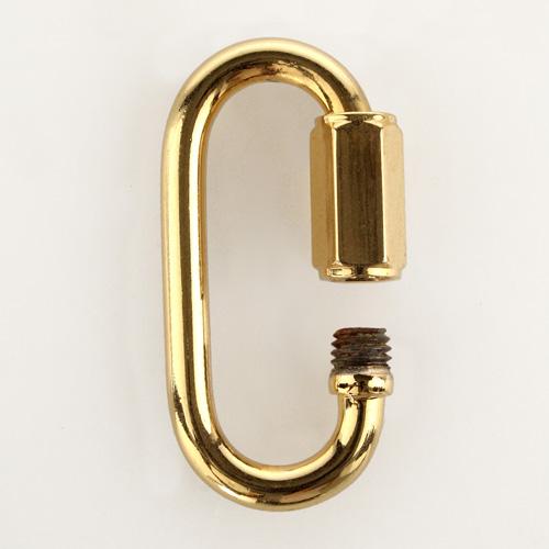 Moschettone dorato Ø5 mm maglia rapida anello per catene da lampadari
