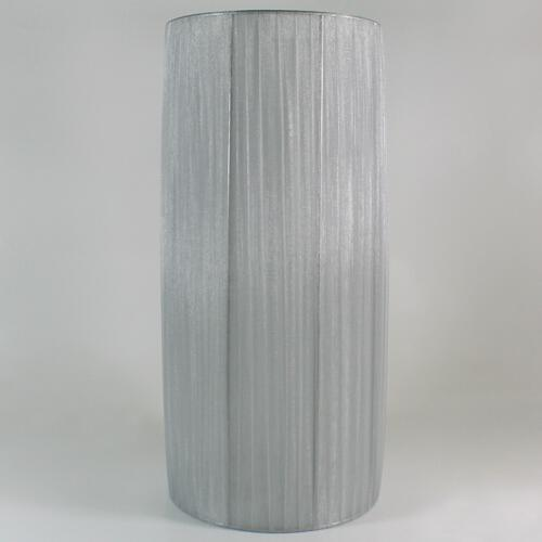 Paralume 20x45 cm cilindro rivestito in velo siena color grigio chiaro. Attacco E27