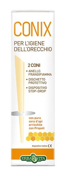 CONIX - 2 CONI IN CERA D'API PER LA RIMOZIONE DEL CERUME ERBAVITA