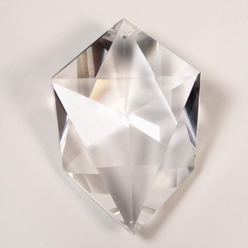 Pendente a punte 100 mm cristallo trasparente Boemia. Finale pendente
