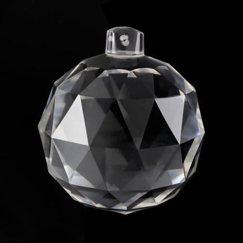 Pendente sfera Ø100 mm sfaccettata in cristallo di Boemia. Pendaglio originale molato a mano per restauro lampadari.