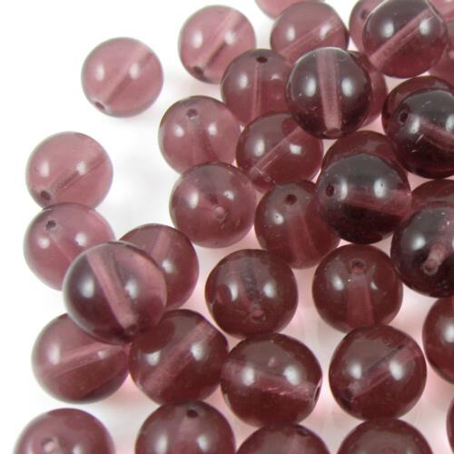Perla tondino 12 mm ametista in vetro veneziano, foro passante