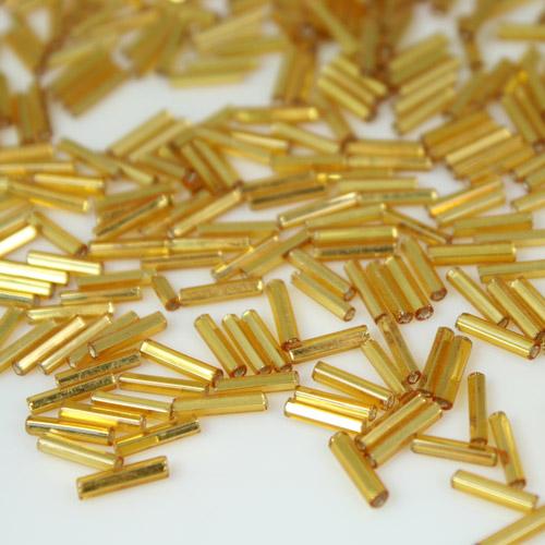 Perline di conteria cannette oro 10 mm