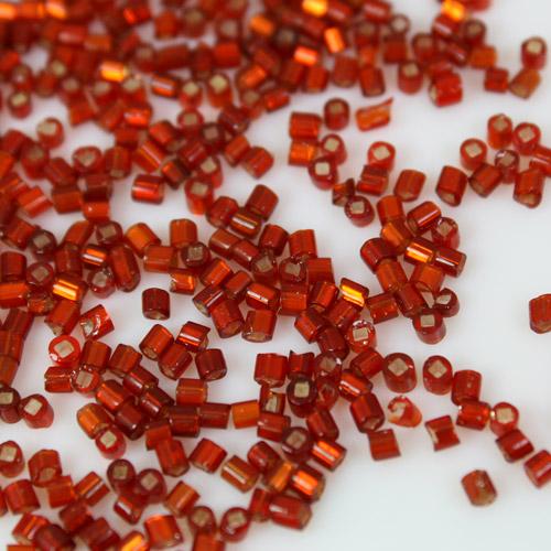 Perline di conteria rosso 2 mm