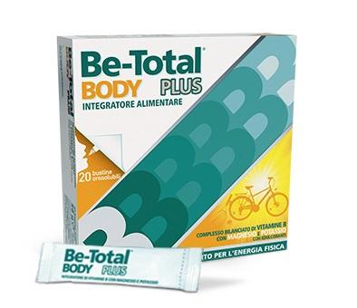 BE-TOTAL BODY PLUS - INTEGRATORE PER ENERGIA CON VITAMINA B, POTASSIO E MAGNESIO 20 BUSTINE