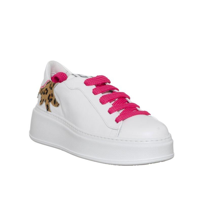 Sneakers bianche inserto maculato GIO+