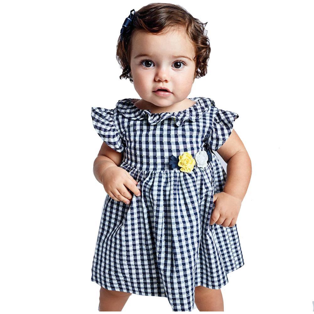 Vestito vichy baby femmina Mayoral