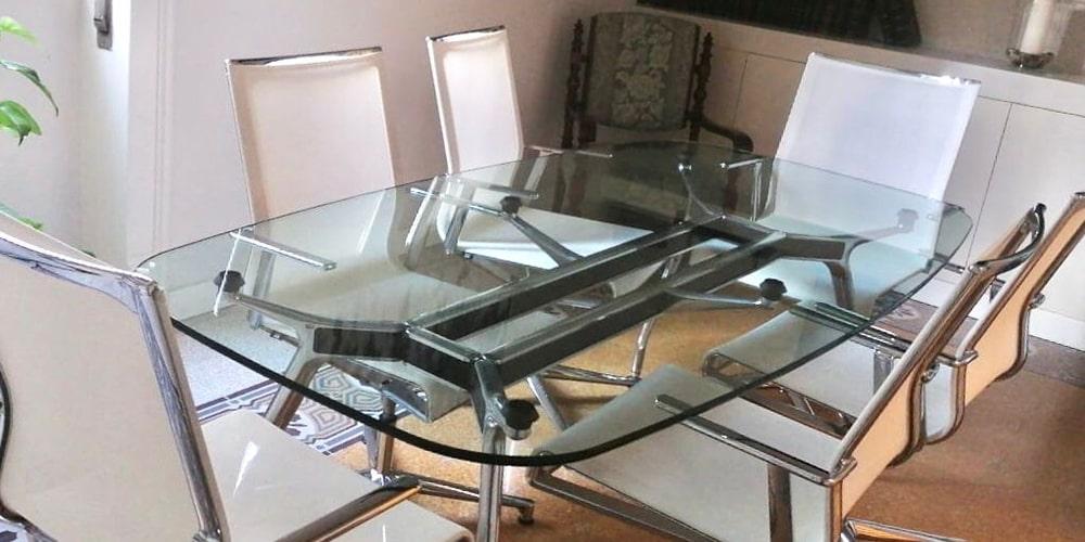 Tavolo sala riunioni in vetro