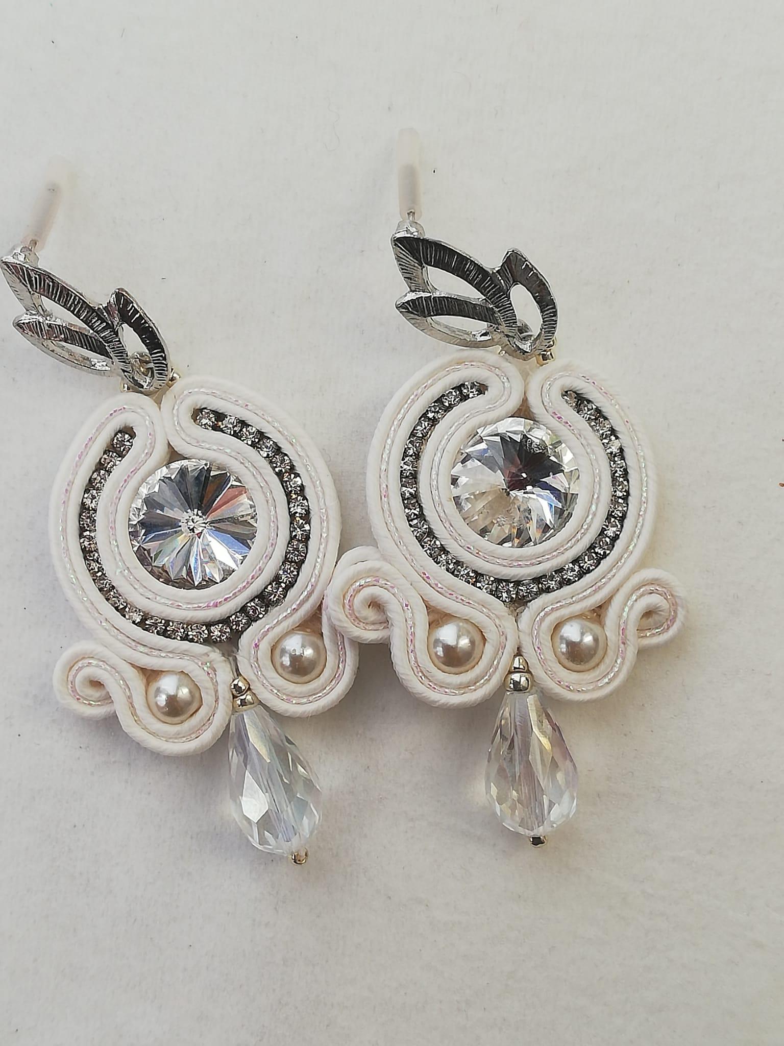 Beautiful handmade soutache earrings