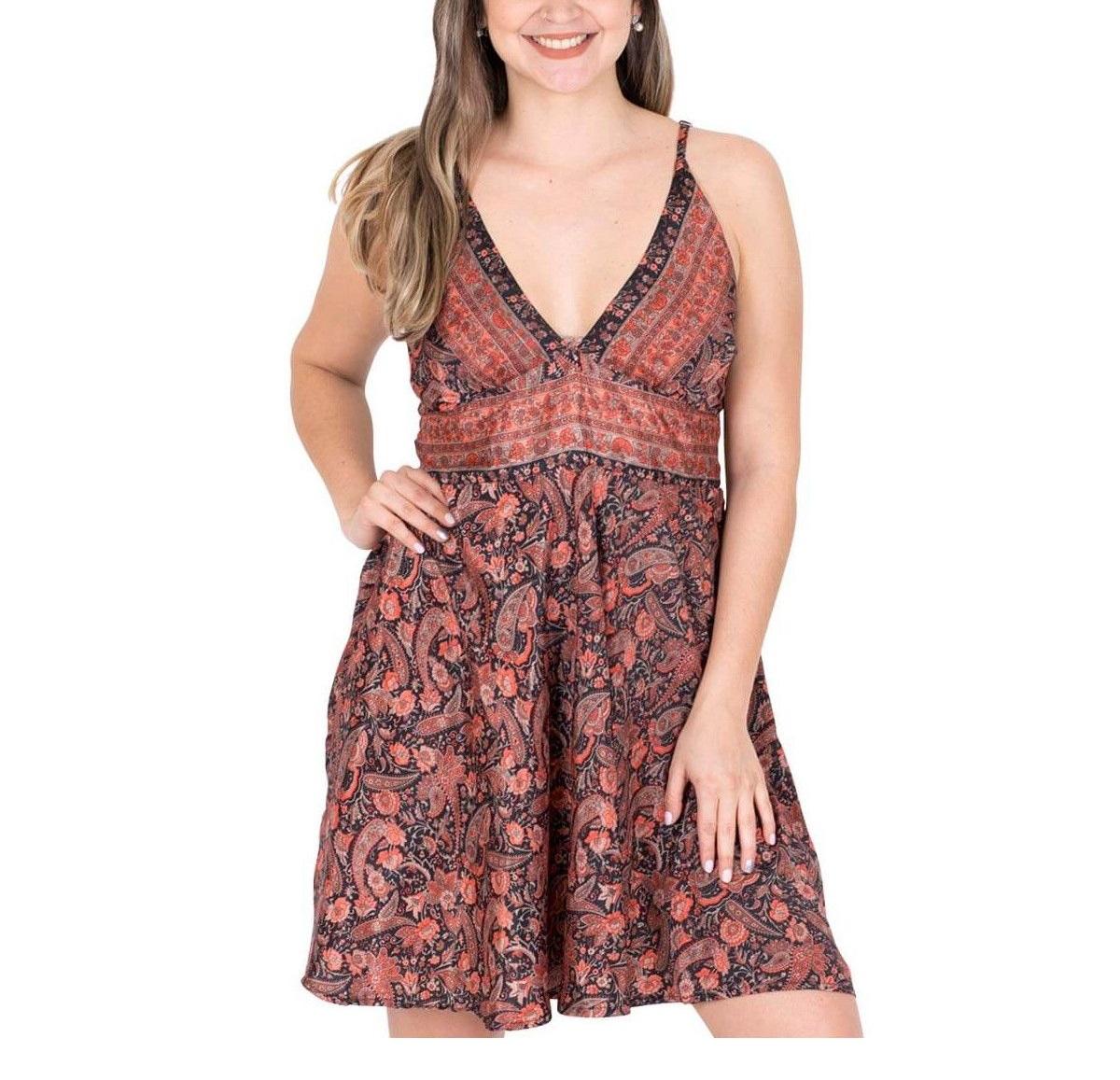 Robe courte en soie | Vêtements d'été en ligne
