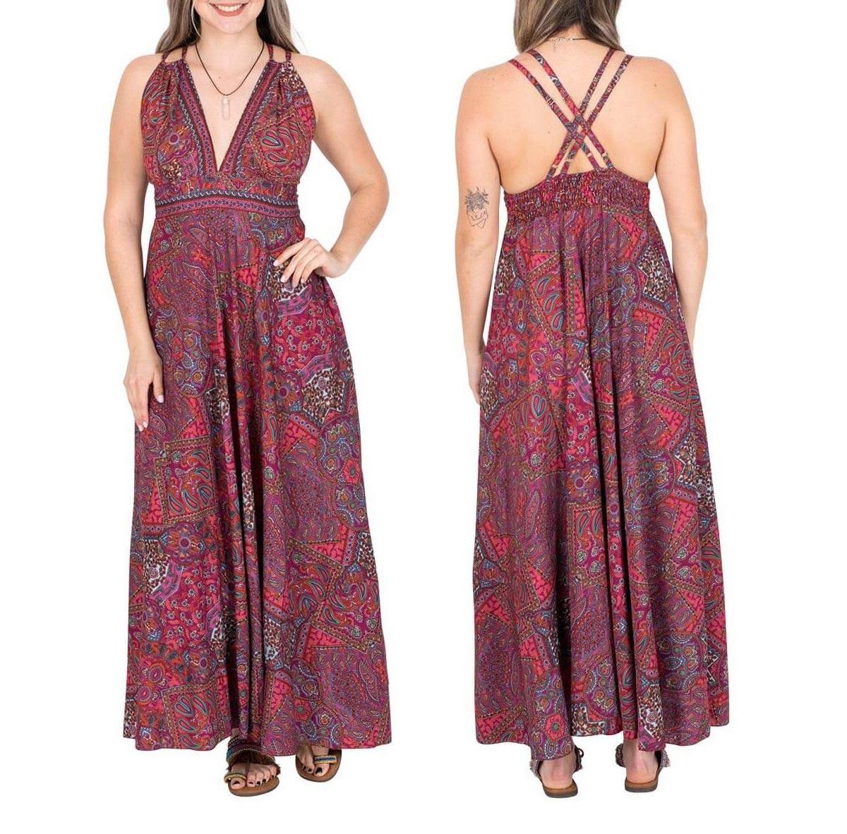 Robe longue en soie Paisley | Robes d'été en ligne