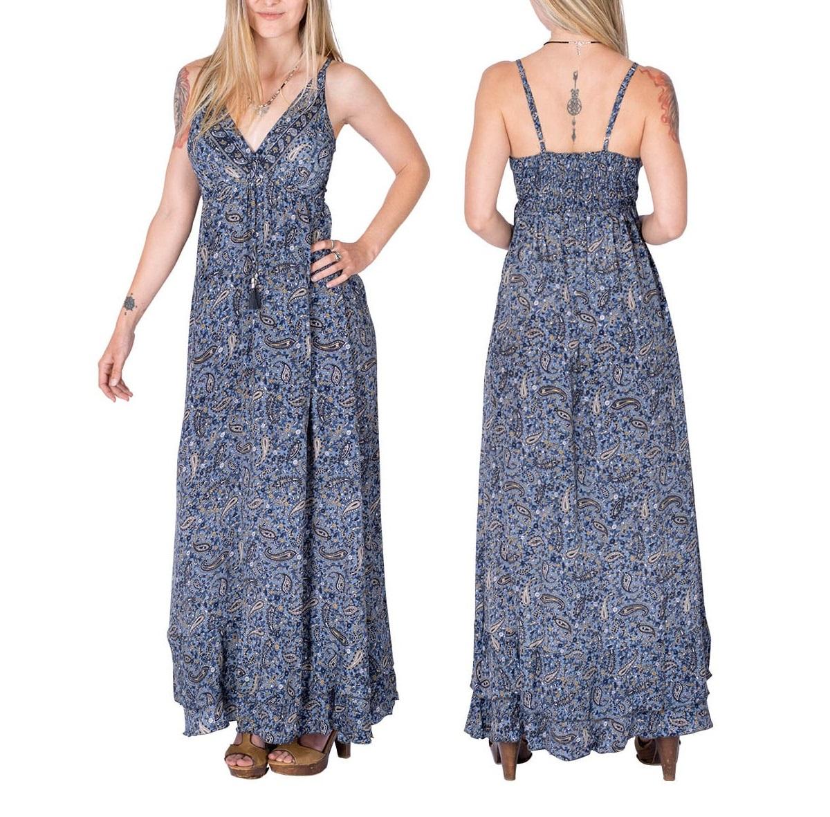 Robe en soie bohème chic | Vêtements pour femmes en ligne