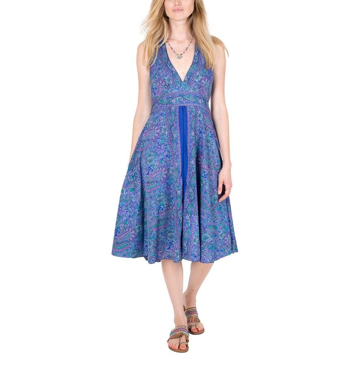 Robe mi-longue en soie | Vente en ligne de vêtements pour femmes