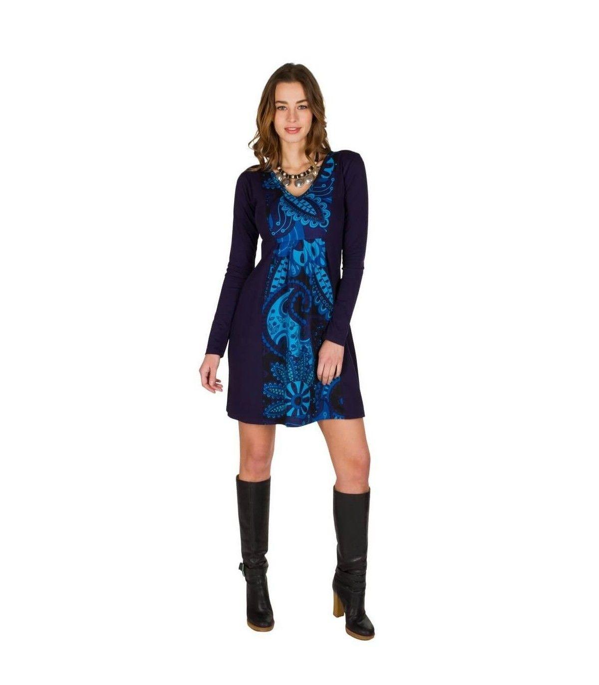 Abito corto blu | Abbigliamento autunno inverno