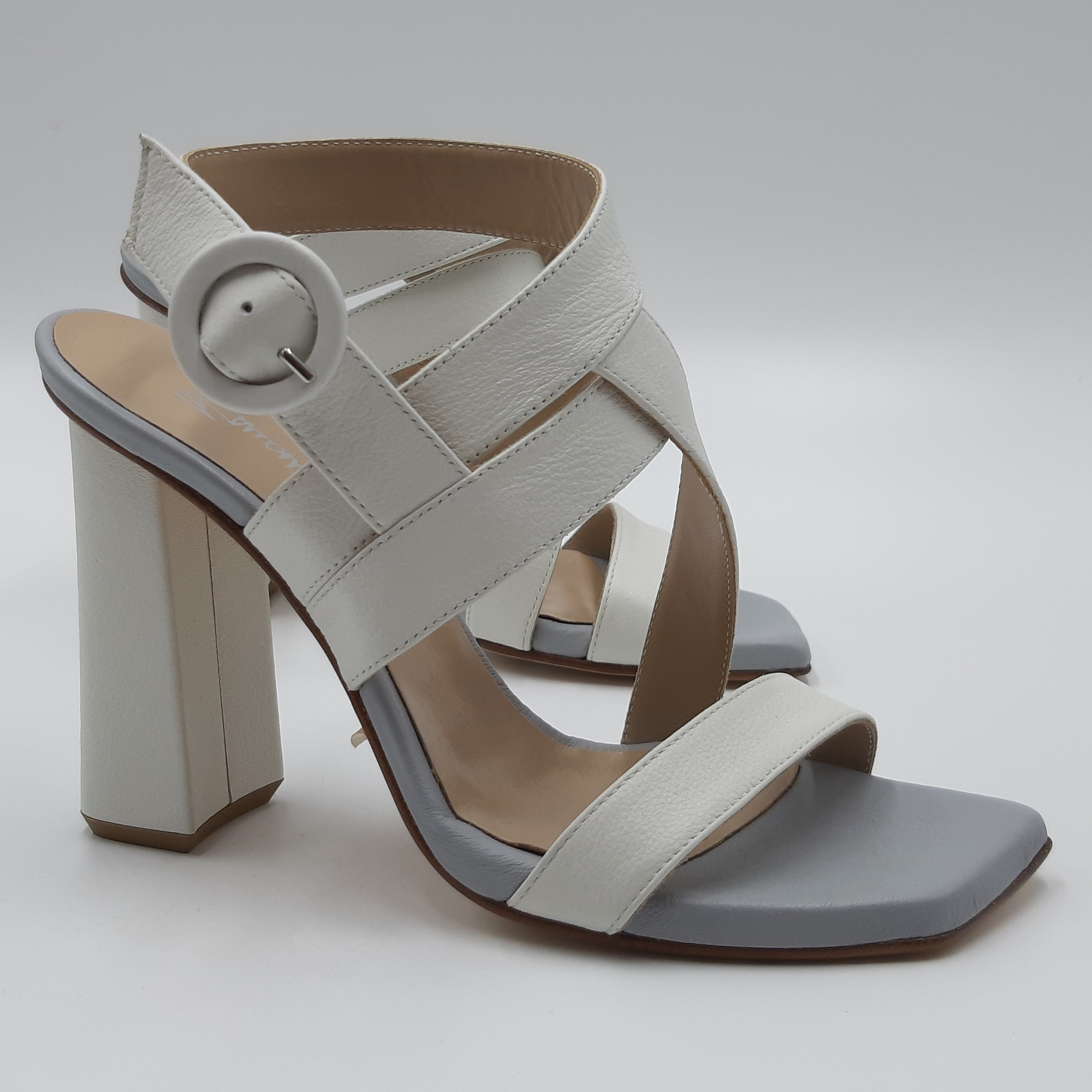 Sandalo bianco e celeste Emanuela Passeri